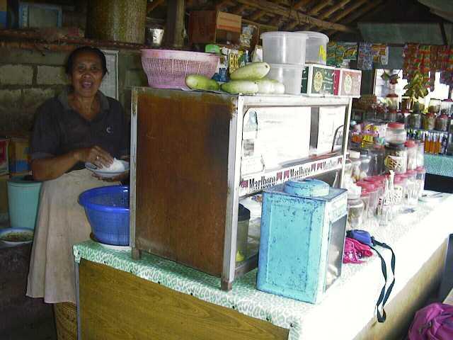 Ibu Loka's warung (food stall)