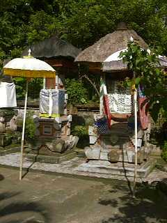 Balinese family shrines